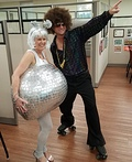 70's Disco Ball and Disco Dude Costume