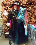 Alice in Wonderland Cheshire Cat and Mad Hatter Costume