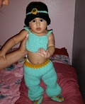Baby Jasmine from Aladdin Costume
