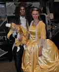 Beauty and the Beast with Lumiere Costume