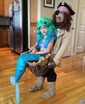 Blackbeard discovers Mermaid Costume