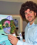 Bob Ross and his Happy Trees Costume