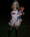 Bride of Chucky Costume Ideas http://www.costume-works.com/sexy_chucky.html