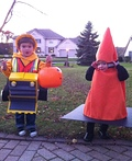 Bulldozer Driver and Construction Cone Costume