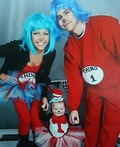 Cat in the Hat and Thing 1&2 Costume