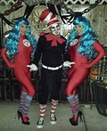 Cat in the Hat with Thing One and Thing Two Costume