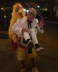 Colonel Carrying Chicken Costume
