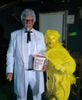 Colonel Sanders and his Hot Chick Costume