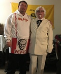 Colonel Sanders & his Bucket of Chicken Costume
