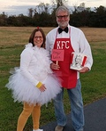 Colonel Sanders & his Chicken Costume