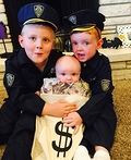 Cops with Money Bag Costume