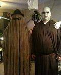 Cousin Itt and Uncle Fester Costume