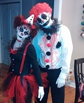 Creepy Clown Couple Costume