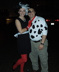 Cruella DeVille and Dalmatian Costume