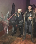 Daenerys riding Dragon & Jon Snow Costume