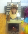 Deer Head over the Fireplace Costume