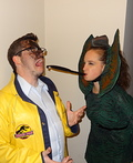 Dilophosaurus and Dennis Nedry Costume