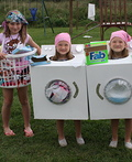 Dirty Clothes, Dryer and Washing Machine Costume