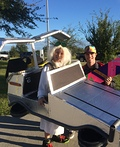 Doc Brown and the Delorean Costume
