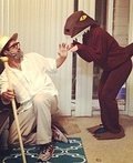Dr. Hammond and Velociraptor Costume