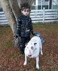 Edward Scissorhands and Frankenweenie Costume