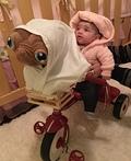 Elliot with E.T. Costume