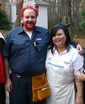 Flo and Comcast Guy Costume