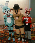 Freddy Fazbear, Toy Bonnie and Foxy the Pirate Costume