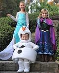 Frozen Elsa, Anna & Olaf Costume