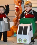 Garbage Truck and Garbage Can Costume