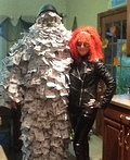 Geico Money Man and Biker Chick Costume