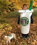 Grande Frappuccino and Short Puppuccino Costume