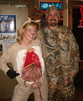 Gutted out Deer & Hunter Costume