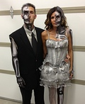 Half Dead Bride And Groom Costume