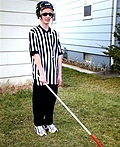 Blind Hockey Referee Costume