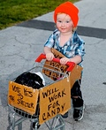 Homeless Toddler in Key West Costume