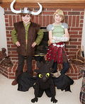 How to Train Your Dragon: Hiccup, Astrid, and Toothless Costume