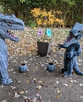 Indominus Rex and Velociraptor Costume