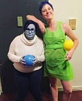 Inside Out Joy and Sadness Costume