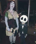 Jack Skellington and Sally Nightmare Before Christmas Costume