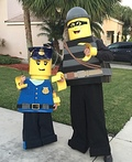 Lego Policeman and Criminal Mini Figures Costume