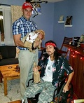 Lieutenant Dan and Forest Gump Costume