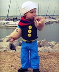 Lil' Popeye the Sailor Man Costume