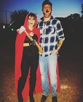 Little Red Riding Hunter and her Wolfman Costume