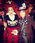 Mad Hatter and Queen of Hearts Costume