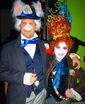 Mad Hatter and White Rabbit Costume