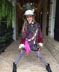 Mad Hatter's Daughter Costume