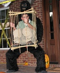 Man in a Cage Costume