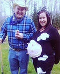 Maternity Cow & Farmer Costume
