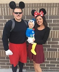 Mickey, Minnie and Donald Duck Costume